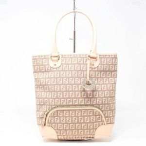 FENDI Pink Canvas Handbag